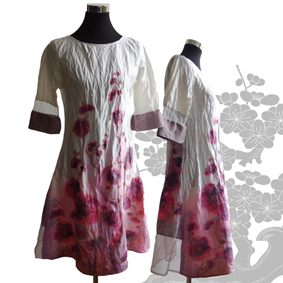 "Kollektion "" Sommer in the City""<br /> Kleid aus Seide Handgemalt"